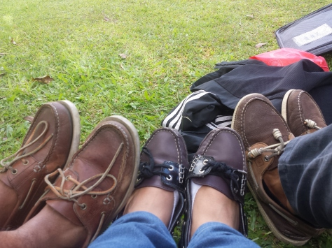 Docu team's bestfriend, boat shoes