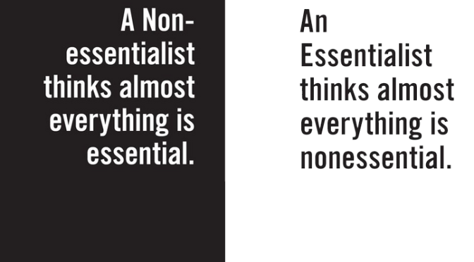 Learning to be an Essentialist